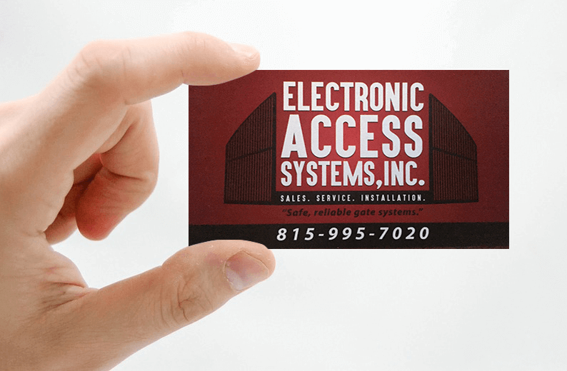 Electronic Access Systems Inc. Business Card